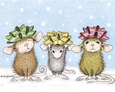 """""""Monica, Muzzy and Amanda"""" from House-Mouse Designs®"""