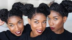 Perky Space Buns | Natural Hairstyle [Video] - http://community.blackhairinformation.com/video-gallery/natural-hair-videos/perky-space-buns-natural-hairstyle-video/