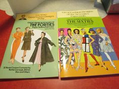 Tom Tierney Great Fashion Designs Of The 40's, 50's, 60's and 70's Paper Dolls by VintageVeneers on Etsy