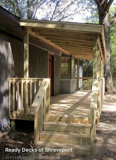 Ready Decks can quickly build and install decks and porches for any home or building. View our gallery of gable porches, screen porches, pergolas, and more. Porch Roof, Screened In Porch, Front Porch, Mobile Home Deck, Bungalow, Porch Kits, Porch Ideas, Diy Porch, Mobile Home Makeovers