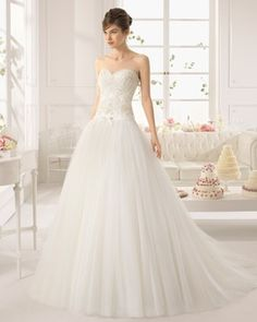 2015 new white sweetheart a line tulle Wedding dresses   lace appliques bow  dropped  Bride Dresses 2015 Vestidos De Noivas