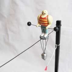 Miniature Circus Strongman Tightrope Walker by CrocodileUndees, $60.00