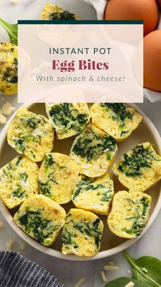 Say hello to the most delicious Instant Pot Egg Bites. These egg bites are copycat Starbucks sous vide egg bites, but you use an Instant Pot instead. They are fluffy, flavorful, and a perfect high protein snack! Meal prep this breakfast recipe for a quick and easy breakfast or snack throughout your busy week. Instant Pot Pasta Recipe, Best Instant Pot Recipe, Perfect Breakfast, Breakfast Ideas, Breakfast Recipes, Starbucks Sous Vide Eggs, Egg Bites Recipe, Spinach And Cheese, Healthy Recipes