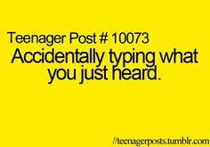 Or when someone is talking and u read a text and you say something from that