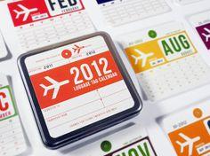 Luggage Tag Calendar