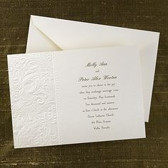 Faint Filigree - Invitation by Carlson craft wedding collection