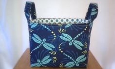 Dragonfly fabric storage basket/bin