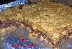 The Belly Rules : Deep Dish Oatmeal Fudge Bars