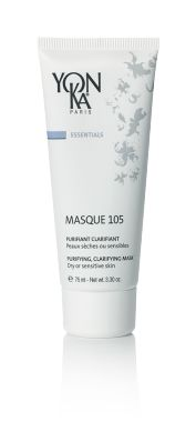 MASQUE 105 (MASKS) Treat your skin to the purifying, clarifying effects of this natural triple clay mask that tightens pores and resurfaces skin for a balanced glow. With an earthy green color and an aromatic scent, this weekly treatment decongests and oxygenates the complexion. This version is perfectly suited to the delicate nature of dry or sensitive skin and helps to prevent blackheads and the buildup of impurities. #skincare #beauty