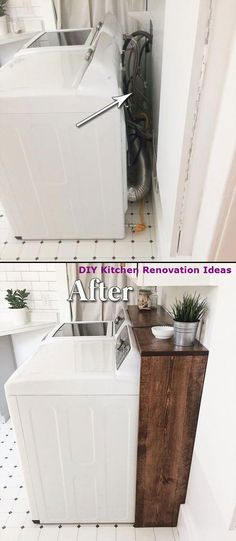 kitchen upgrades on a budget . kitchen upgrades on a budget diy . kitchen upgrades for renters . Laundry Room Remodel, Laundry Room Organization, Laundry Room Design, Organizing, Laundry Decor, Basement Laundry, Home Renovation, Home Remodeling, Basement Renovations