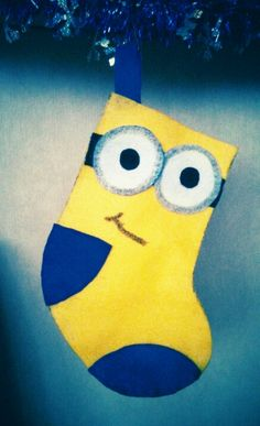 minion christmas stocking my first diy stocking - Minion Christmas Stocking