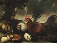 Decorative Fowl by Franz Werner von Tamm