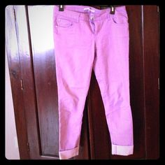 Forever 21 Lavender Jeans Size 28 purple/ lavender skinny jeans. So cute for Spring! Only worn a few times. Great condition. Stretchy material and light weight. Forever 21 Jeans Skinny