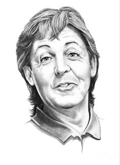 Sir Paul McCartney by Murphy Elliott ~ traditional pencil art