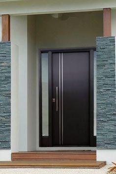 Modern Entrance Door, Modern Wooden Doors, Modern Front Door, House Entrance, Entrance Doors, Ceiling Design Living Room, Room Door Design, Door Design Interior, Main Door Design