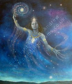 Nuit Awesome Goddess! You are the night sky. You are timeless space. Creator of all. Mother of all deities. Twinkling infinity. Awesome Goddess!  -Wendy Andrew