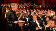 Oscars 2014 Ellen Degeneres Best Oscar Moments Ellen Oscar Selfie & Pizz...