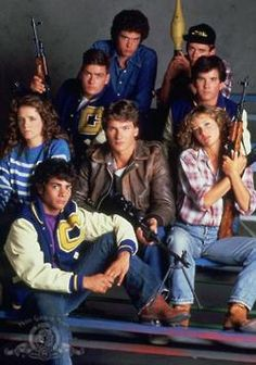 Red Dawn - 1984: Charlie Sheen, Jennifer Grey, Patrick Swayze, Lea Thompson, C. Thomas Howell, Darren Dalton, Brad Savage and Doug Toby