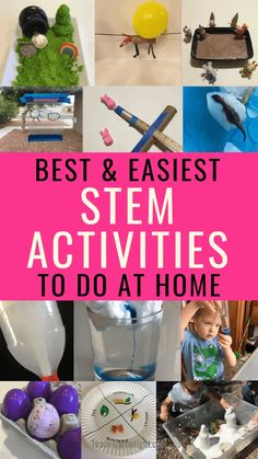 STEM Activities for Preschoolers and Toddlers - Team Cartwright - The best (and easiest) STEM activities you can do at home right now! Don't worry, t - Educational Activities For Kids, Indoor Activities For Kids, Science Activities, Preschool Activities, Summer Activities, Outdoor Activities, Outdoor Games, Teaching Science, Family Activities
