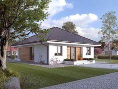 Projekt domu Elka 4 House Layout Plans, House Layouts, House Plans, Mexico House, Little Houses, Autocad, Home Fashion, Malaga, Villa