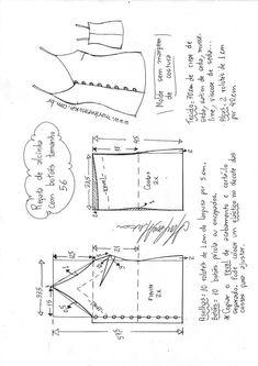 Blazer spencer sem gola - DIY - molde, corte e costura - Marlene Mukai Kids Patterns, Sewing Patterns Free, Free Sewing, Sewing Tutorials, Sewing Projects, Sewing Hacks, Pattern Sewing, Make Your Own Clothes, Diy Clothes