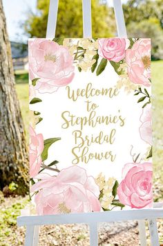 bridal shower welcome sign Welcome to bridal por Papierscharmants