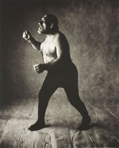 """IRVING PENN The Angel (New York), 1946 (Maurice Tillet, a professional wrestler known as """"the French Angel"""") Angel In French, Irving Penn Portrait, Image Mode, Angel Drawing, Gelatin Silver Print, Artwork Images, Miles Davis, Famous Photographers, Art Institute Of Chicago"""