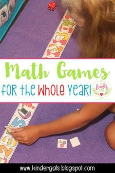 Kindergarten math games for the whole year! Are you trying to figure out how to run math centers, pull small group, and keep everyone busy and happy all at the same time?