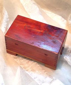 Vintage Trinket Box Cleveland Souvenir Made Of Tennessee Red Cedar