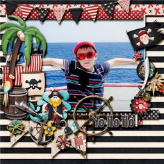 """New---New---New  """"A Pirate's Life"""" by JoCee Designs  http://www.thedigichick.com/shop/A-Pirate-s-Life.html"""
