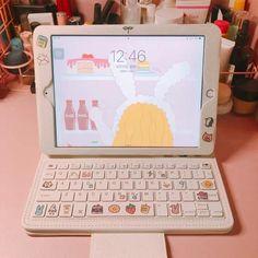 Cute Ipad Cases, Cute Cases, Cute Phone Cases, Iphone Cases, Accessoires Ipad, Study Room Decor, Ipad Accessories, Kawaii Room, Gamer Room