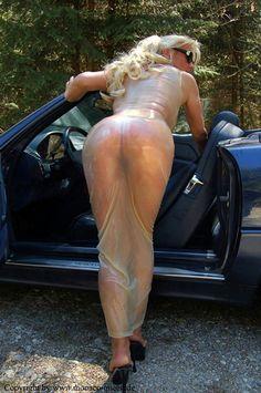 transparent latex dress monaco queen open car