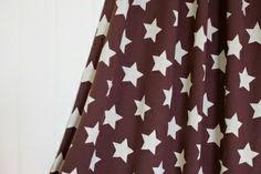 Lillestoff Stars Sterne Bio Jersey braun beige von Stoff-Zaubereien auf DaWanda.com