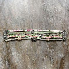 Trachtenarmband *Hipbayesk* in grün und rosa von meiTherese by Ninnerl auf DaWanda.com