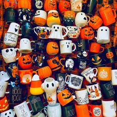"""Spooky Wil 🎃👻🦇 on Instagram: """"My name is Wil and I have a Halloween mug addiction… and this isn't all of them. Anyone else not able to resist a good spooky mug? ☕️ 👻 🎃…"""" Love, Mugs, Halloween, Amor, Tumblers, Mug, Spooky Halloween, Cups"""