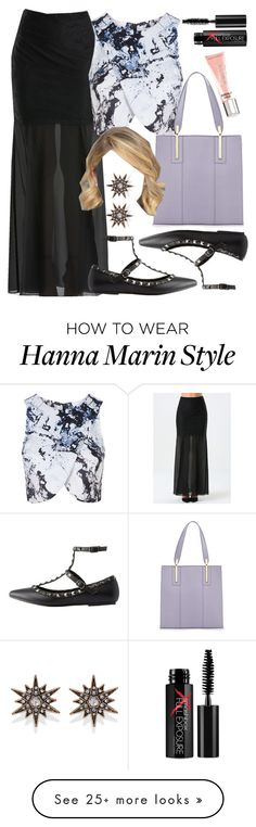 """Hanna Marin inspired outfit with a maxi skirt"" by liarsstyle on Polyvore featuring Bebe, Topshop, Charlotte Russe, Neiman Marcus, Forever 21, Victoria's Secret, Smashbox, Semi and ss"
