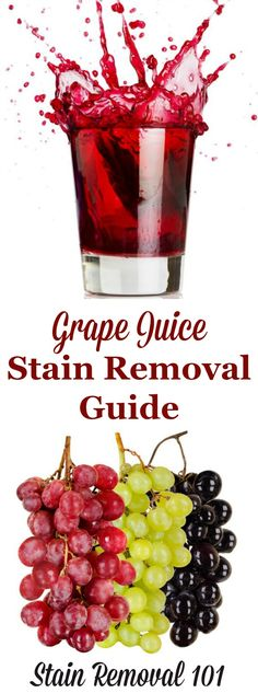 How to remove grape juice stains from laundry, upholstery and carpet with step by step instructions on Stain Removal 101 House Cleaning Tips, Diy Cleaning Products, Cleaning Hacks, All You Need Is, Clean Baking Pans, Cleaning Painted Walls, Glass Cooktop, Laundry Hacks, Laundry Decor