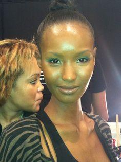Fierce Friday: Bright Bold Eyeliner from Tracy Reese Fall Fashion Week 2012 by Mally Beauty