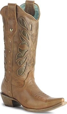 Corral Kats Cognac Butterfly Cowgirl Boot - My next pair? I love the butterscotch color; bet it would go with anything. $269.99 on sale! $10 off $75 with code SAVE10 and free shipping.