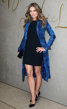 Elizabeth Hurley from Celebs in Coats   E! Online