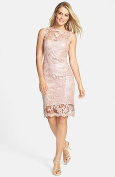 "Tadashi Shoji Beaded Illusion Lace Dress available at #Nordstrom "" Mother of the Bride """