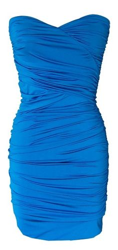 Turquoise Blue Shirred Strapless Cocktail Dress wedding-ideas