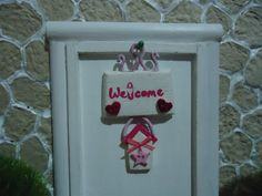 miniature sign 1:12 scalewelcome por MINISSU en Etsy