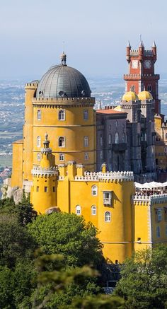 Pena Palace, Sintra, Portugal by Thierry Ollivier