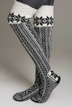 Viking of Norway black-and-white knit socks | Katalog 1213
