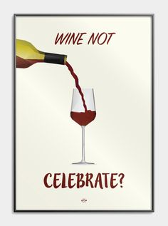Plakat med far jokes - Wine not celebrate? Wine Puns, Open When Letters, Self Serve, Good Humor, Diy And Crafts, Haha, Let It Be, Vintage Vibes, Thoughts