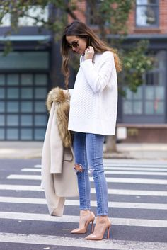Love cableknit turtlenecks and pairing them with skinny jeans or leggings