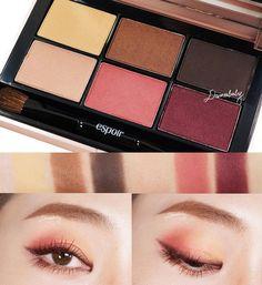 Pinterest: GreenTea CakeRoll #korean #makeup #koreanmakeup #eyemakeup #eyeshadow #pink #yellow #looks