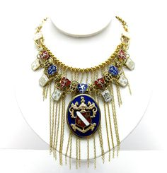 Statement Necklace Royalty by SetsukoJewelry on Etsy, $85.00