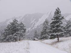 Boulder Colorado in the wintertime!